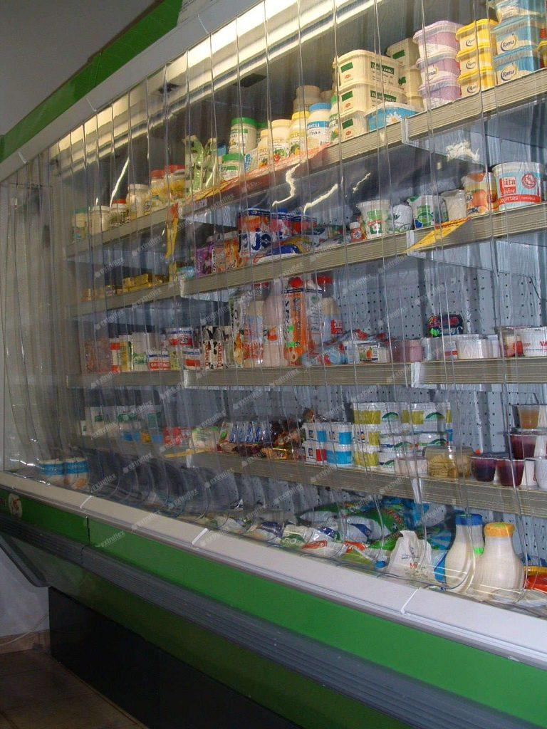 Antibacterial strip door