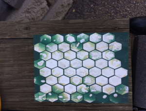 Hex tile wear plate in Urethane